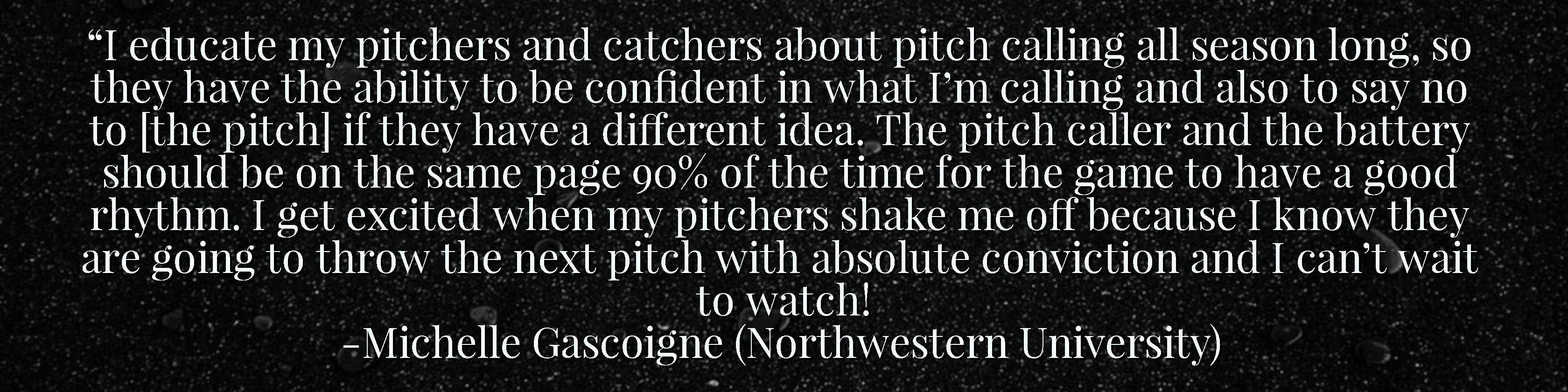 Shaking Pitches Quote - Michelle